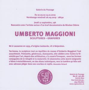 Rencontre avec Umberto Maggioni - Documentaire et discussion